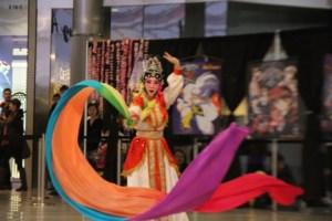 A ribbon dance at the Pan Asian Arts Festival in May. (Asian Media Access photo)