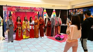 A cultural booth at the Pan Asian Arts Festival in May. (Asian Media Access photo)