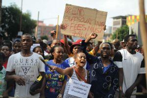 Student protest in azania