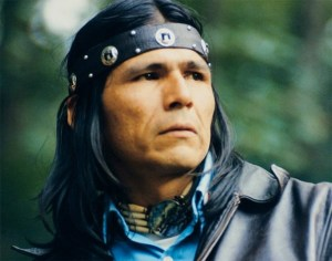 Ancestor Nowa Cumig (Dennis Banks) of the American Indian Movement (A.I.M.)