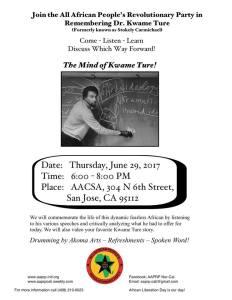 The Mind of Kwame Ture! – San Jose, U.S.