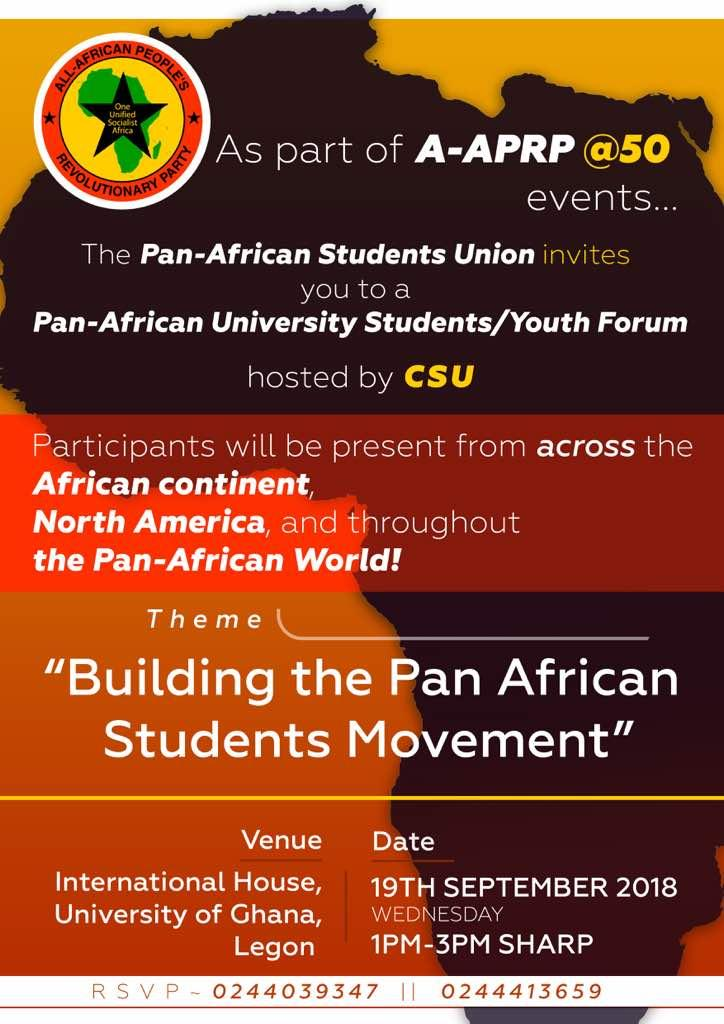 Pan-African University Students/Youth Forum