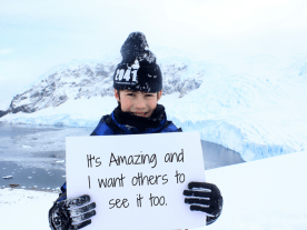 I want to save Antarctica because... -Raphael Mear, 11, UK
