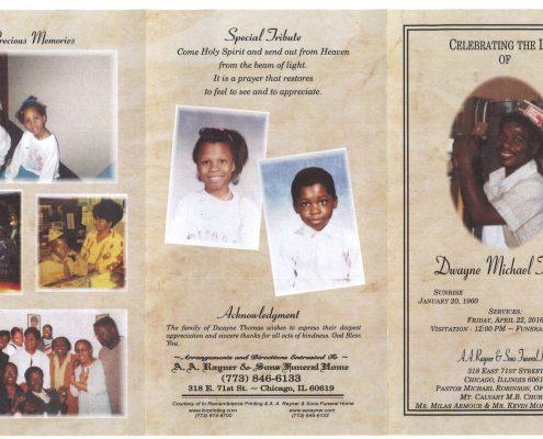 Dwayne Michael Thomas Obituary