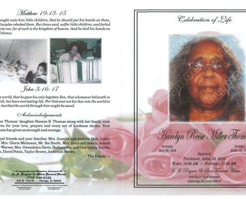 Harolyn Reese Miller Thomas Obituary 1