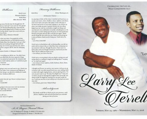 Larry Lee Terrell obituary from funeral service at aa rayner and sons funeral home in chicago illinois
