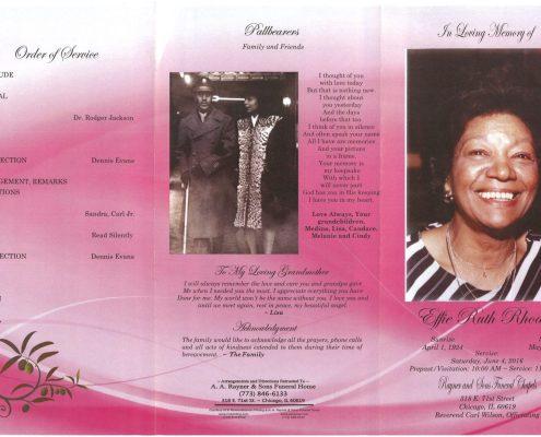 Ellie Ruth Rhoden Obituary