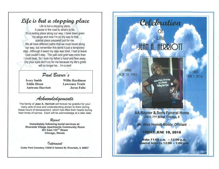Ms Alice Herriott Moody Obituary