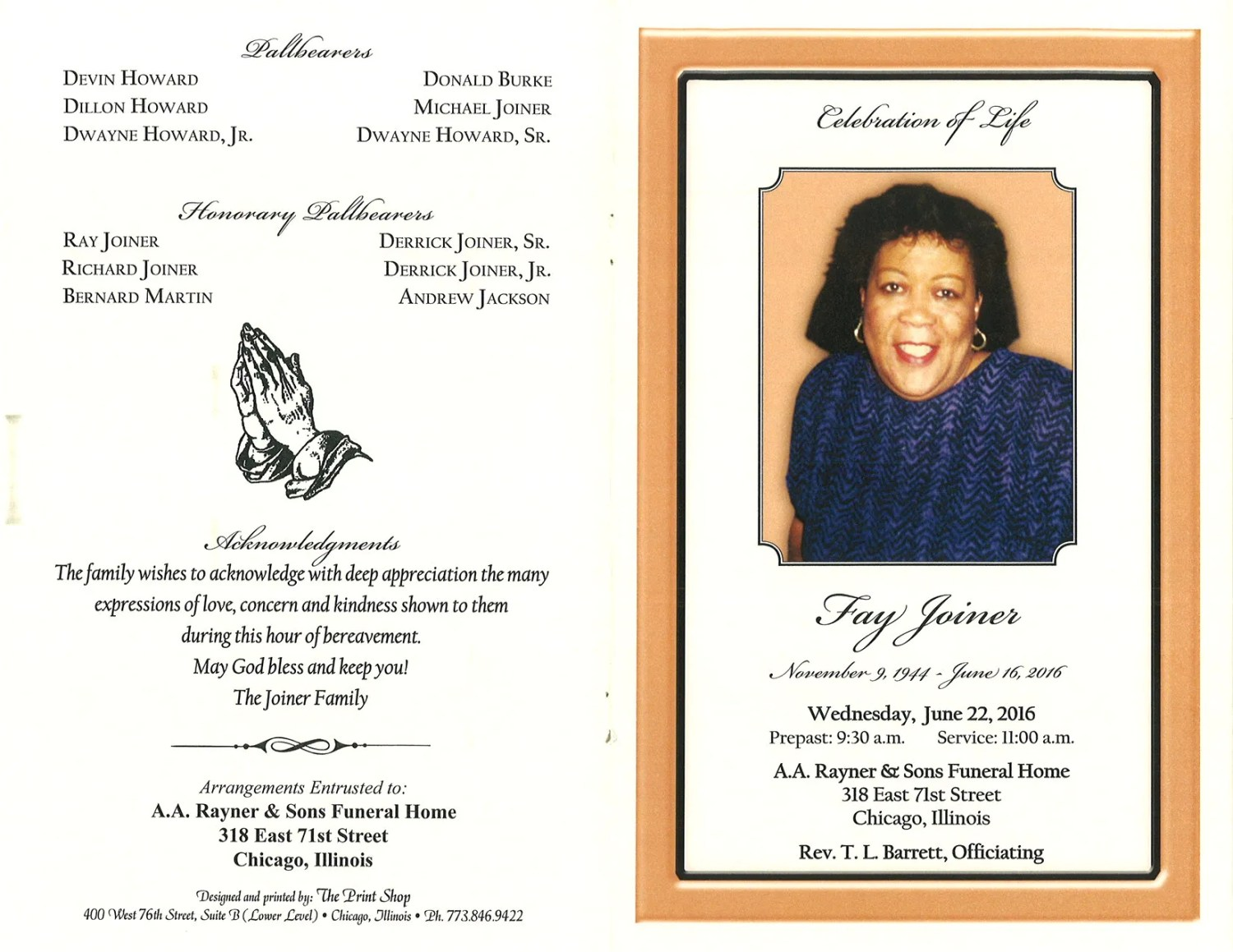 fay joiner obituary aa rayner and sons funeral home Free Church Bulletin Covers free clipart for church programs luke 4 14-21