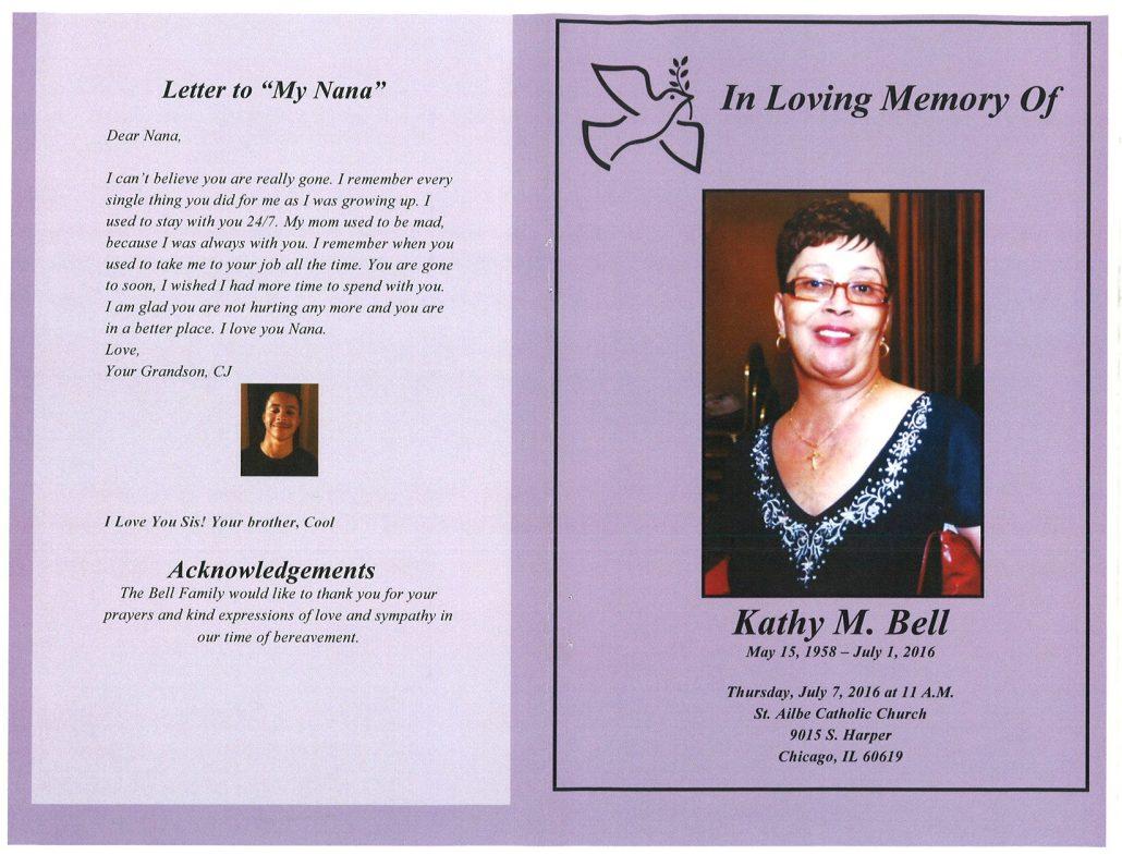 Kathy M Bell obituary