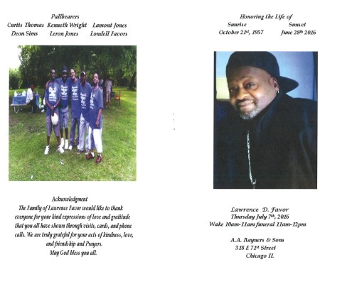 Lawrence D Favor Obituary