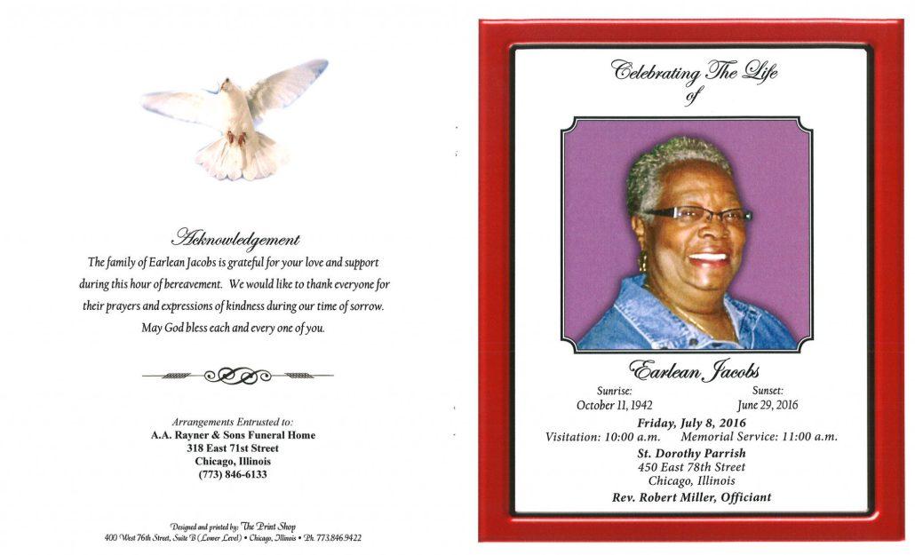 Earlean Jacobs obituary