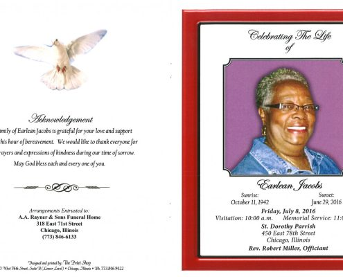 Earlean Jacobs obituary