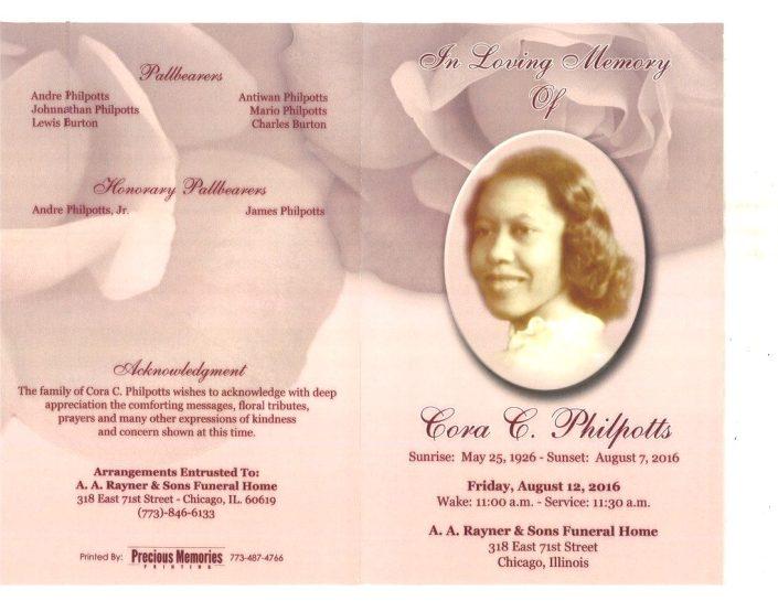 Cora C Philpotts Obituary 2167_001