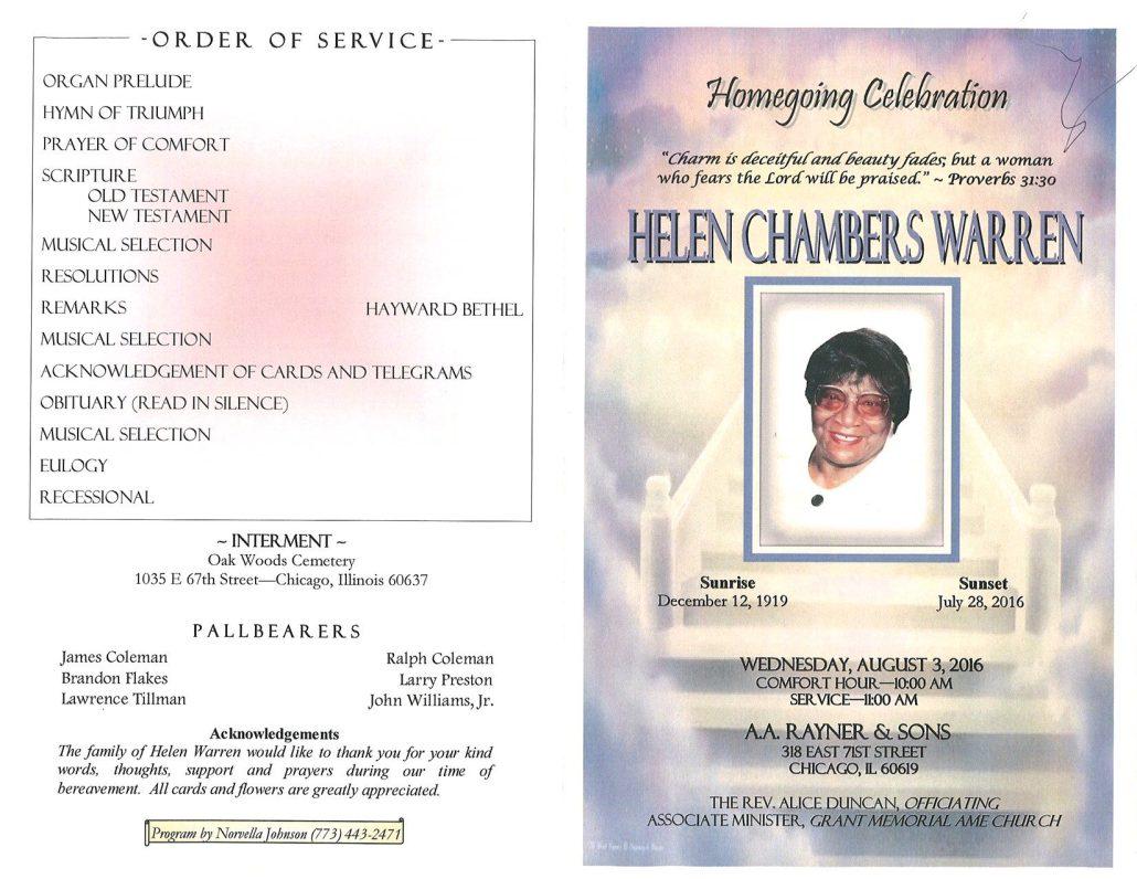 Helen Chambers Warren Obituary 2135_001