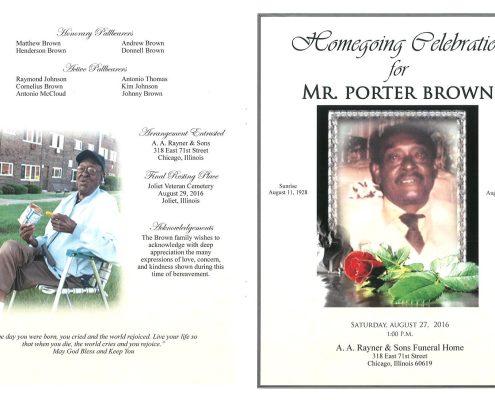 Mr Porter Brown Obituary 2218_001