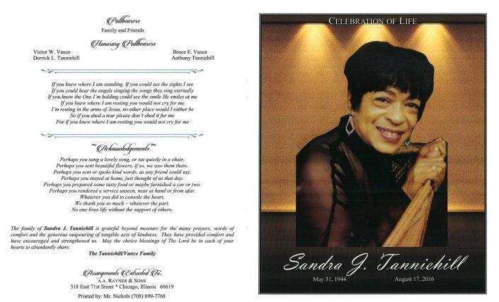 Sandra J Tanniehill Obituary 2209_001