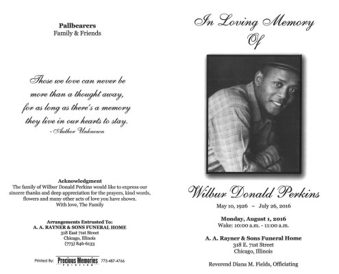 Wilbur Donald Perkins obituary 2127_001