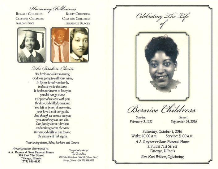 Bernice Childress Obituary