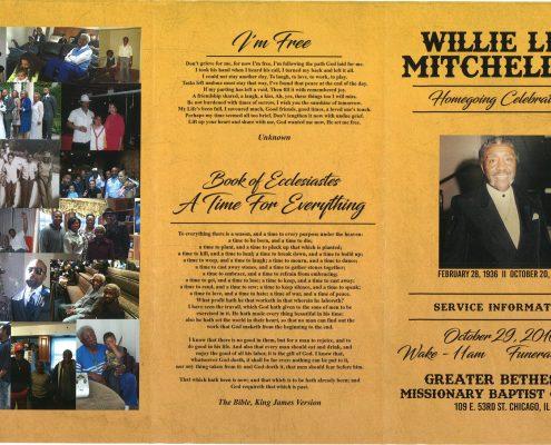 Willie Lee Mitchell Jr Obituary