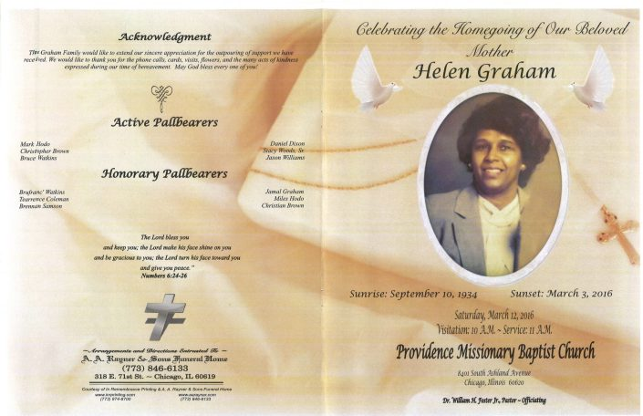 Helen Graham Obituary