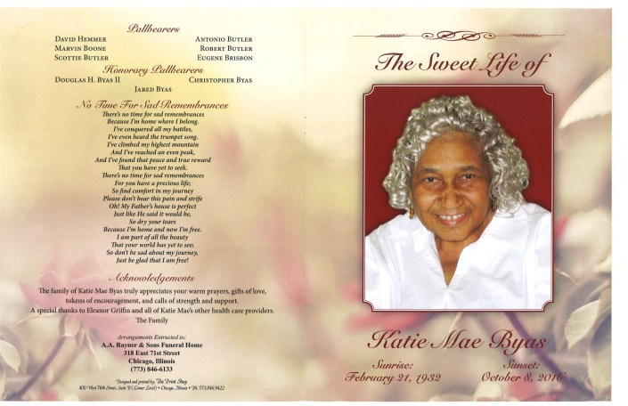 Katie Mae Byas Obituary