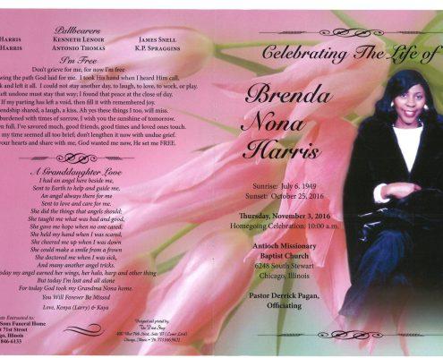 Brenda Nona Harris Obituary