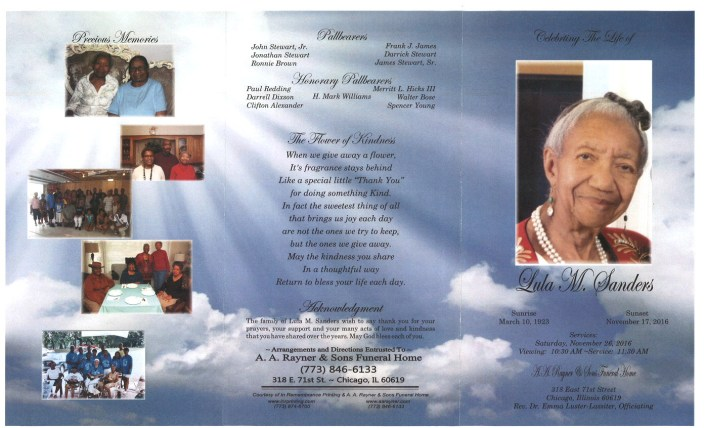 Lula M Sanders Obituary