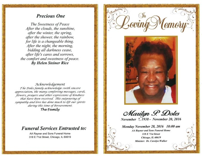 Marilyn P Doles Obituary