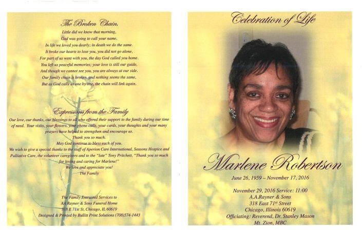 Marlene Robertson Obituary