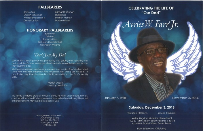 Avries W Farr Jr Obituary
