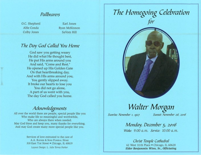 Walter Morgan Obituary