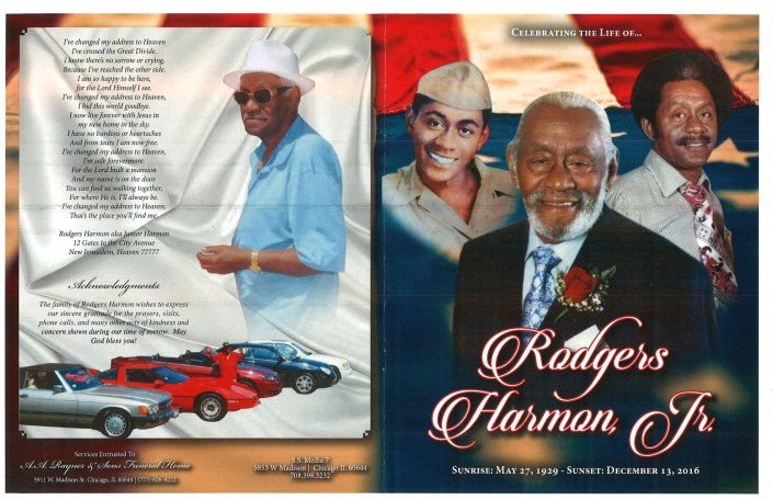 Rodgers Harmon Jr Obituary Funeral Services at AA Rayner and Sons Funeral Home