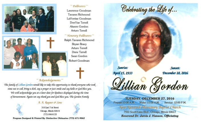 Lillian Gordon Obituary
