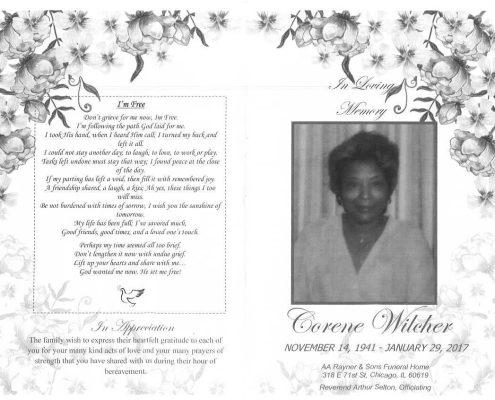 Corene Witcher Obituary