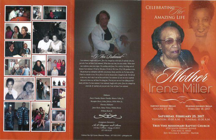 Mother Irene Miller Obituary
