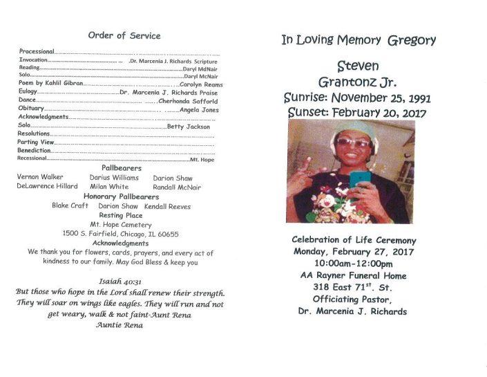 Steven Grantonz Jr Obituary