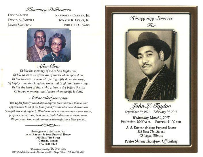 john L Taylor Obituary