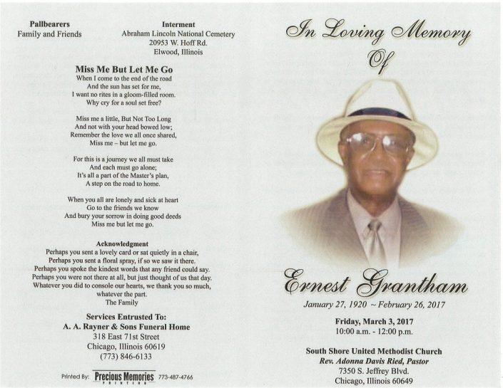 Ernest Grantham Obituary