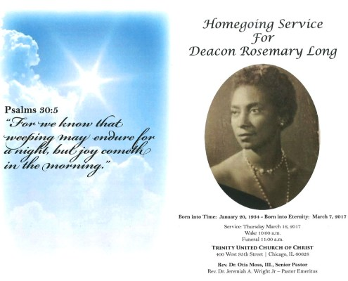 Deacon Rosemary Long Obituary