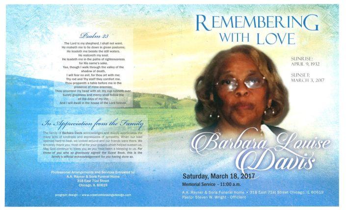 Barbara Louise Davis Obituary