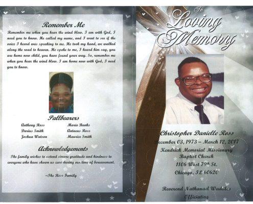 Christopher Danielle Ross Obituary