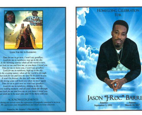 Jason J-roc Barrett Obituary