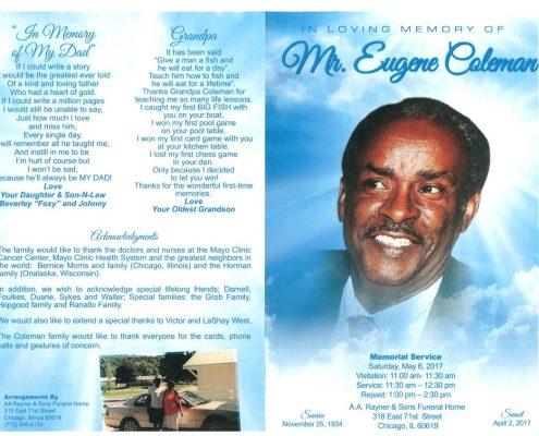 Eugene Coleman Obituary