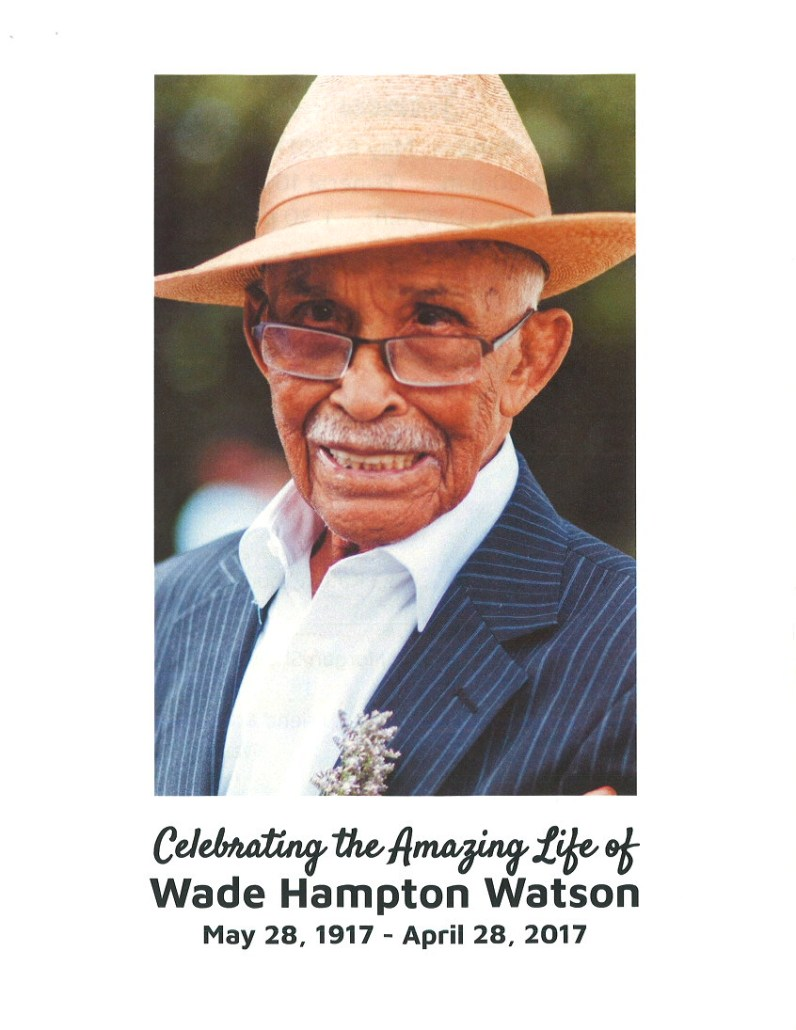 Wade Hampton Watson Obituary AA Rayner Funeral Services