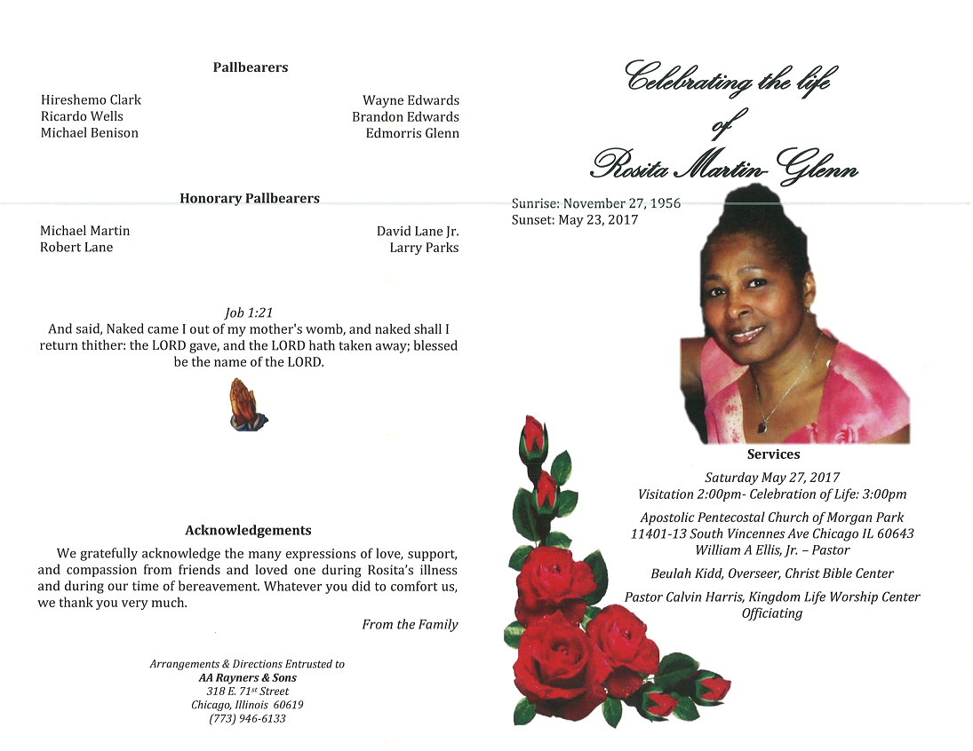 Rosita Martin Glenn Obituary Aa Rayner And Sons Funeral Home