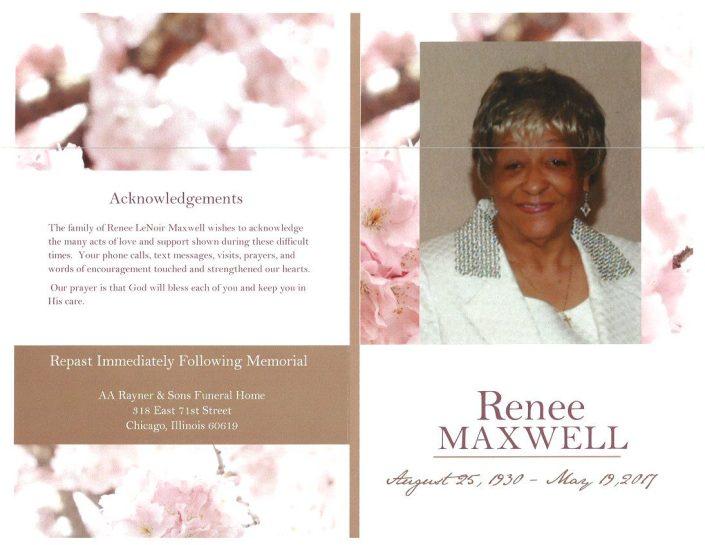 Renee Maxwell Obituary
