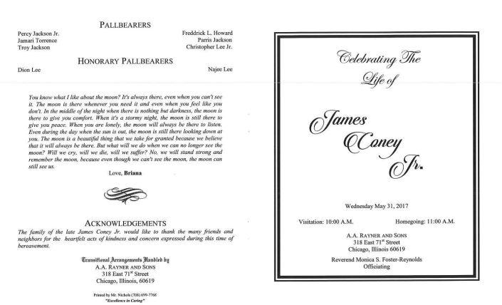 James Coney Jr Obituary