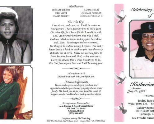 Katherine Drew obituary