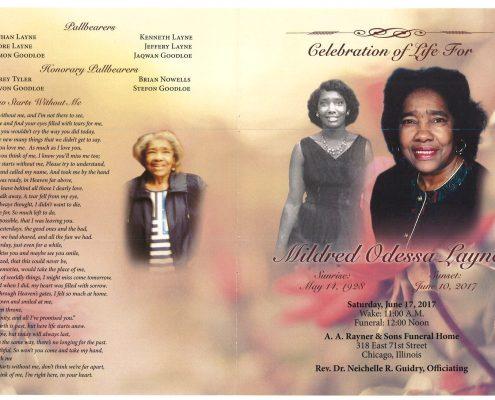 Mildred Odessa Layne Obituary